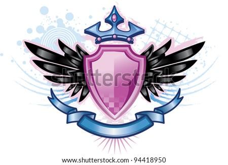 Pink Shield Crest