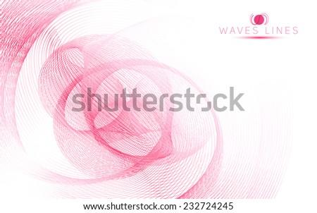 pink sky soft waves line