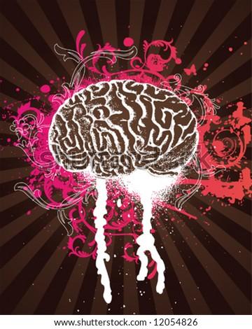 Pink Splatter Brain