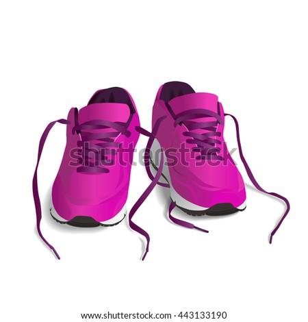 pink sport shoes running shoe