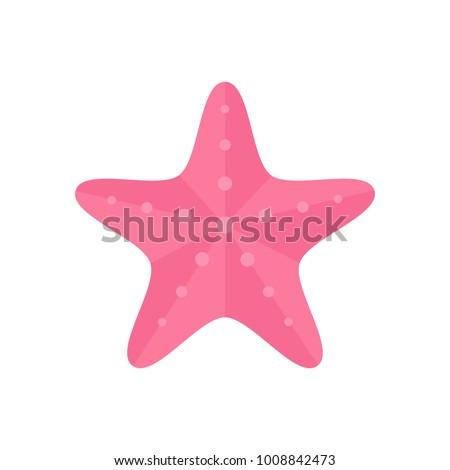 pink starfish  ocean  marine