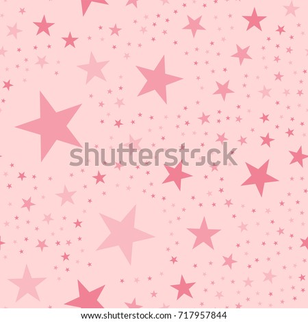 pink stars seamless pattern on