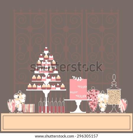 pink sweet table wedding
