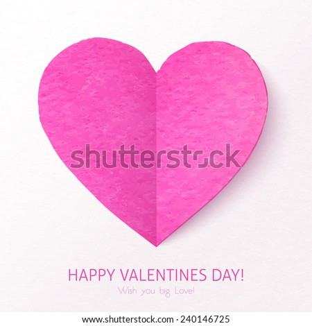 pink textured folded vector