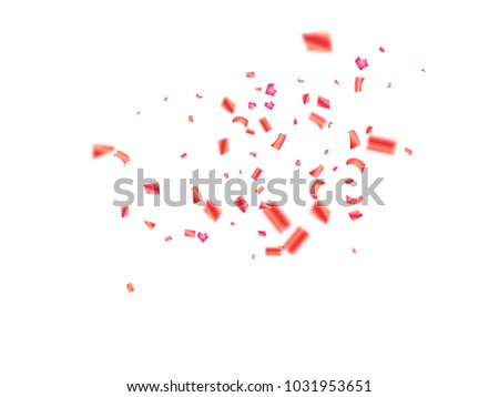 pink tinsel confetti falling vector christmas new year birthday party celebration rich background