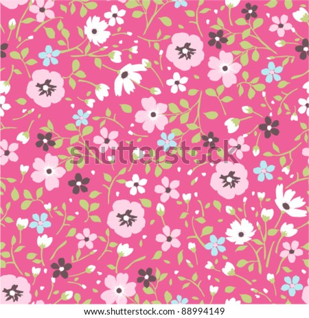 pink tiny floral seamless pattern