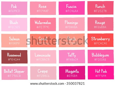 Pink Tone Color Shade Background with Code and Name Illustration Foto stock ©