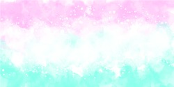 pink tosca watercolor background. Watercolor tosca background abstract. pink watercolor background abstract. Watercolor colorful, pastel color, rainbow, splash, sky, texture, wallpaper.