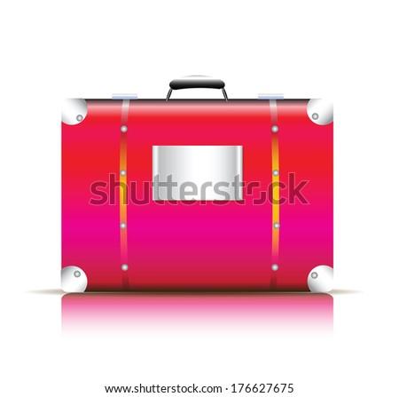 pink travel bag vector
