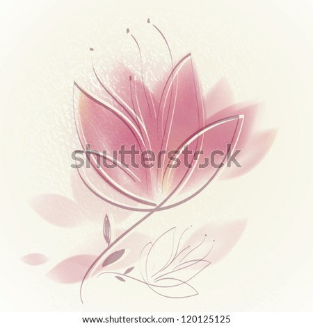 Pink tulip / Lovely floral background