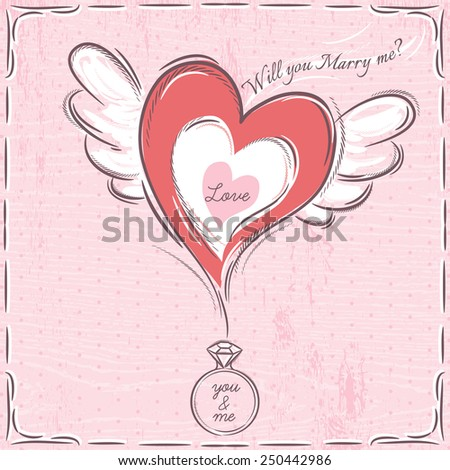 stock-vector-pink-valentine-card-with-he