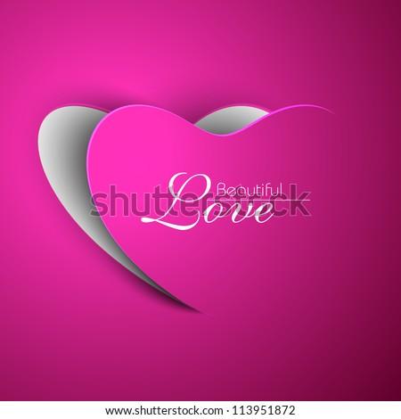 pink valentine heart eps 10