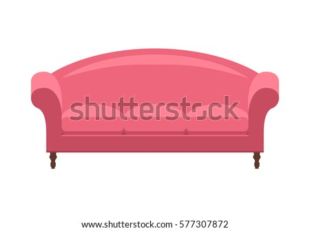 pink vintage sofa icon of