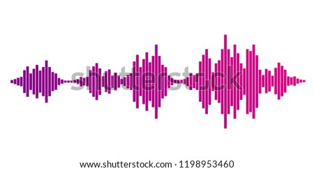 Pink violet gradient equalizer isolated on white background. Vector illustration.