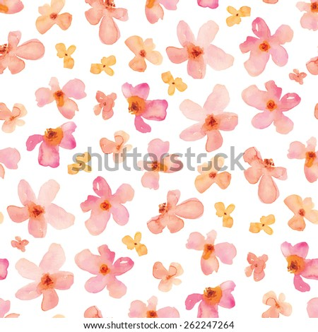pink watercolor flowers