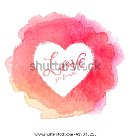 pink watercolor painted stain
