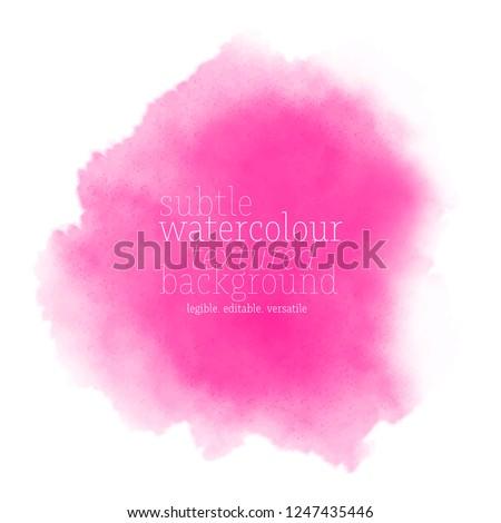 pink watercolor splash. vector eps 8 Stock photo ©