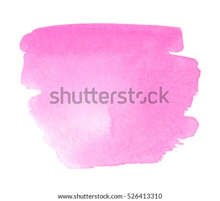 pink watercolor wet brush paint