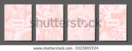 Pink white milk marble texture simple cover backgrounds vector design. Abstract minimalist texture for poster layout, pink marble stone imitation in light colors. Vector cover with liquid fluid effect