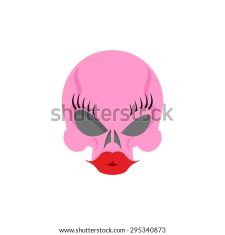 pink women skull blondes with