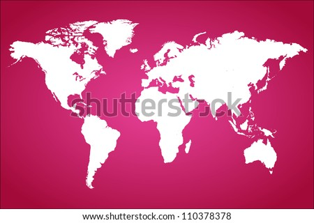 Pink World Map Vector Illustration