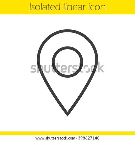 pinpoint linear icon. geo location map mark. pin point