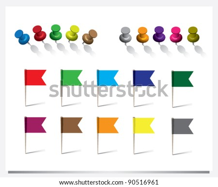 Pins and Flags