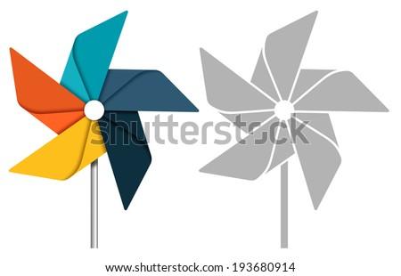 Pinwheel concept illustration Foto stock ©