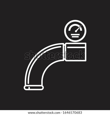Pipe connector or pipe fitting. Pipe fittings vector icons set