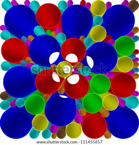 pipe pvc - stock vector