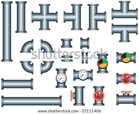 pipeline construction pieces set