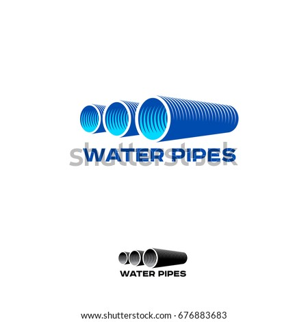 Pipes Logo & Branding Identity. Corporate vector logo design template Isolated on a white background.