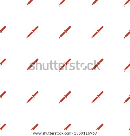 pipette icon pattern seamless white background. Editable filled pipette icon. pipette icon pattern for web and mobile.