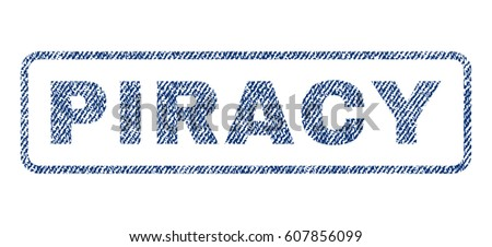 piracy text textile seal stamp