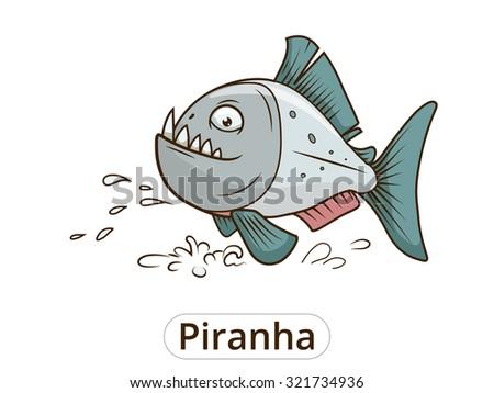 Bajo el agua piranha pescado vector - Descargue Gráficos y Vectores ...