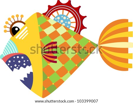 piranha graphic vector illustration of isolated on white background