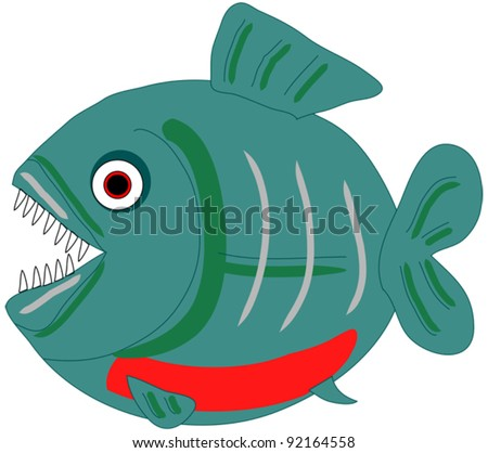 Piranha vector clip art