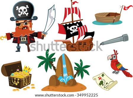 pirate and his stuff