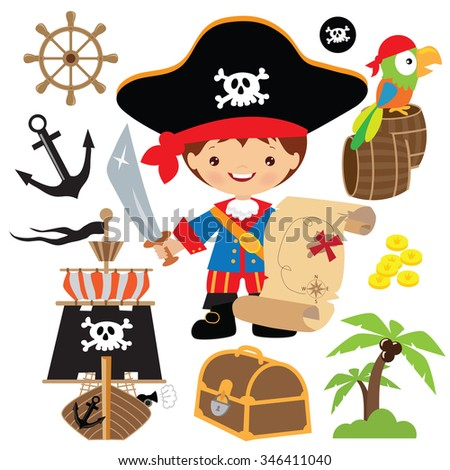 pirate captain vector