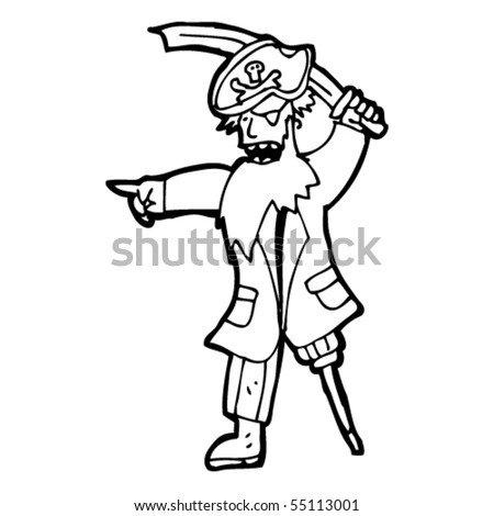 Pirate cartoon stock vector