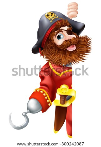 pirate cartoon character with