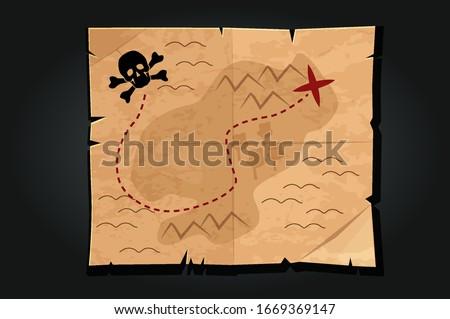 pirate cartoon vintage paper