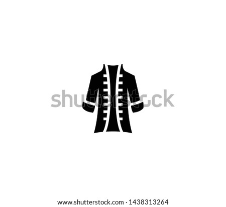 Pirate coat vector isolated flat illustration. Pirate coat icon