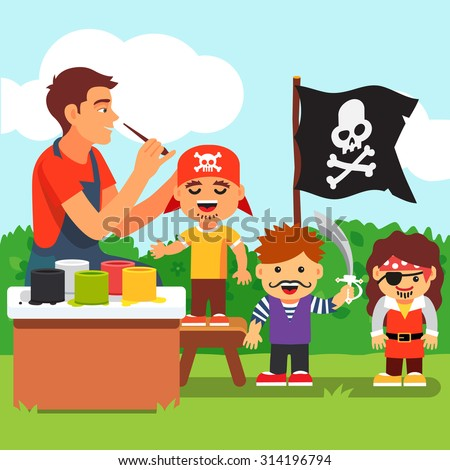 pirate costume and painting