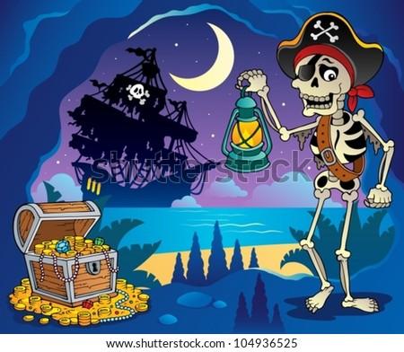 Pirate cove theme image 2 - vector illustration.