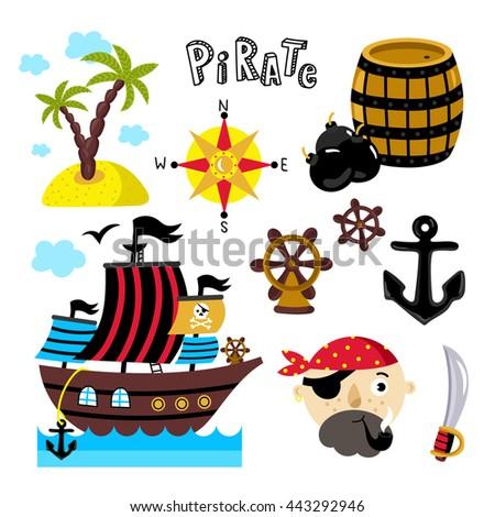 pirate design element for