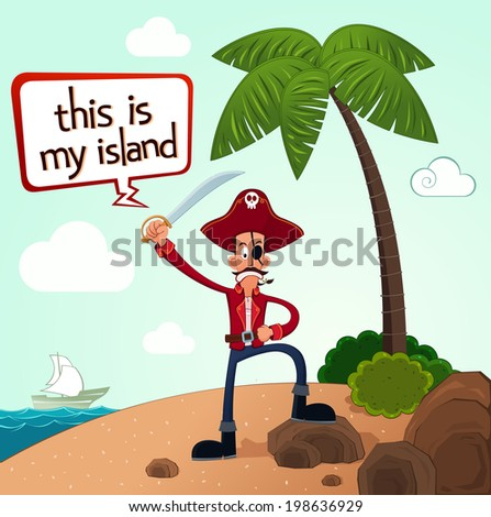 pirate discover an island after a long journey