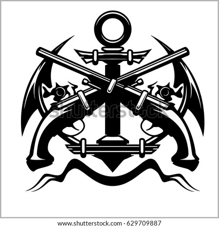 pirate emblem   anchor and