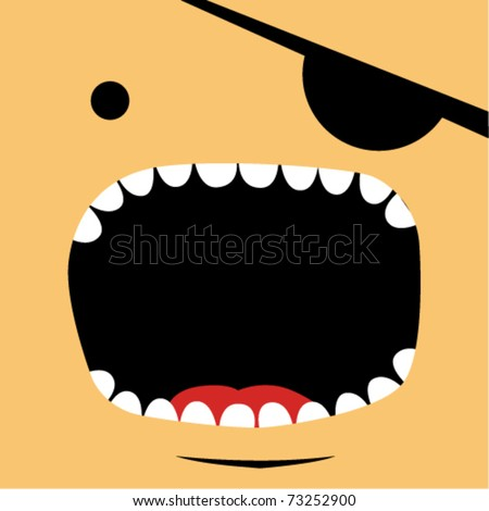 Pirate face - stock vector