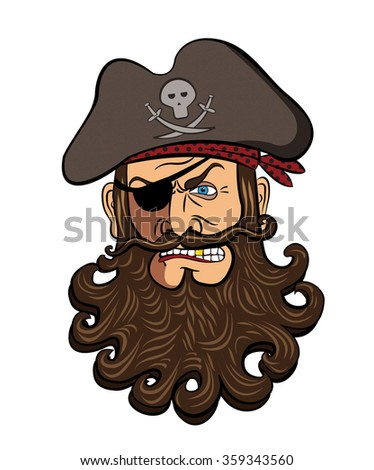 Pirate face vector - photo#11